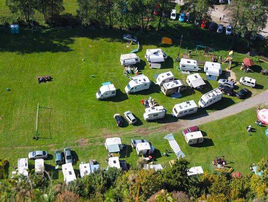Campers (caravans) Camping near Kraków Będkowska Valley