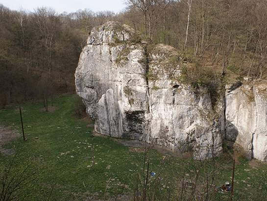 Climbing Dupa Słonia, climbing in Dolina Bedkowska