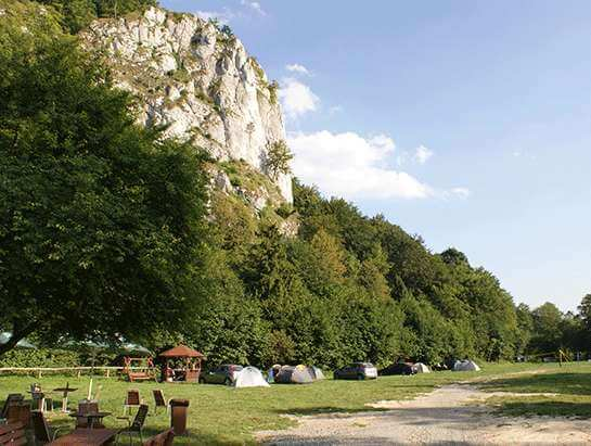 Cracow campground Bedkowska Valley