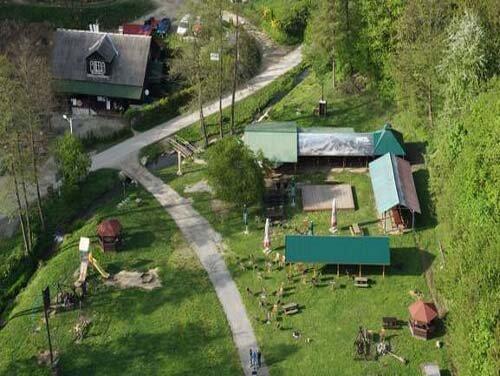 Campground Krakow Widok z lotu ptaka (drona)
