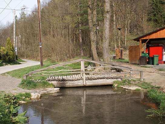 Mostek przy campingu, Dolina Będkowska