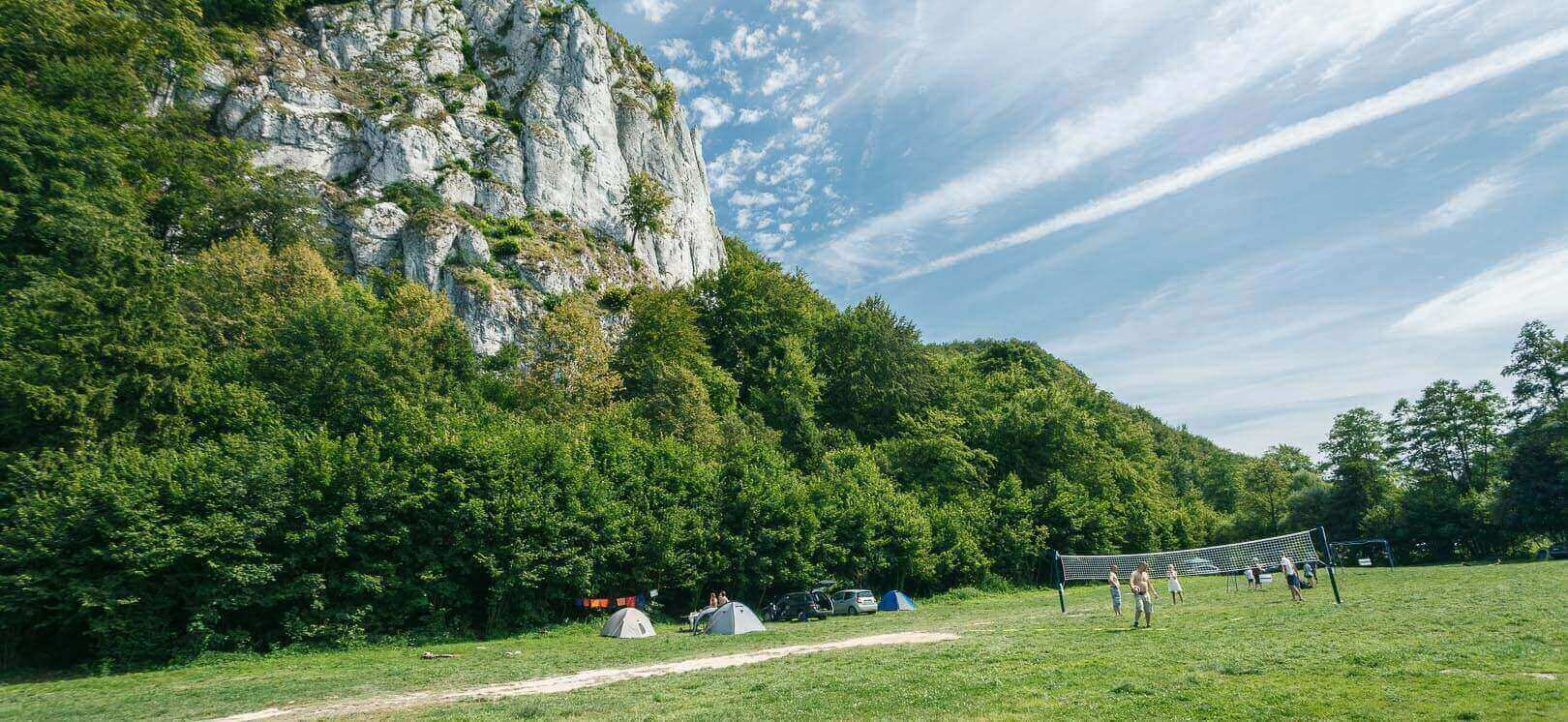 Camping and restaurant, Kraków valleys. The longest rock climbing routes, close to Krakow.